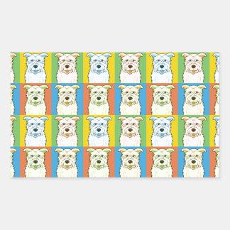 Glen of Imaal Terrier Dog Cartoon Pop-Art Rectangular Sticker