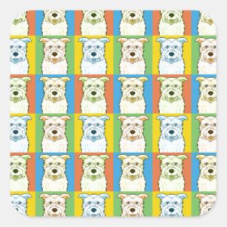 Glen of Imaal Terrier Dog Cartoon Pop-Art Square Sticker