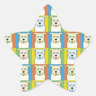 Glen of Imaal Terrier Dog Cartoon Pop-Art Star Sticker