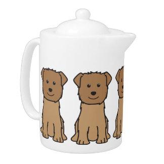 Glen of Imaal Terrier Dog Cartoon Teapot