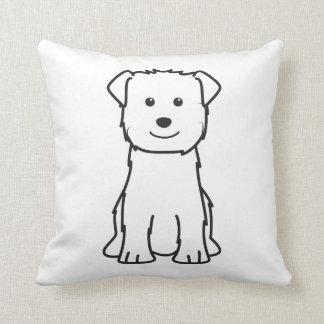 Glen of Imaal Terrier Dog Cartoon Throw Pillow