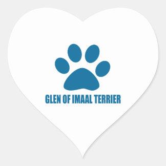 GLEN OF IMAAL TERRIER DOG DESIGNS HEART STICKER
