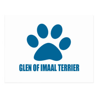 GLEN OF IMAAL TERRIER DOG DESIGNS POSTCARD