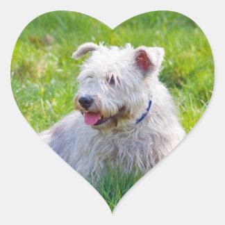 Glen of Imaal Terrier dog heart stickers, gift