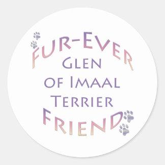 Glen of Imaal Terrier Furever Classic Round Sticker