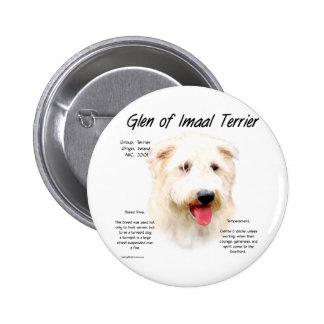 Glen of Imaal Terrier History Design Pin
