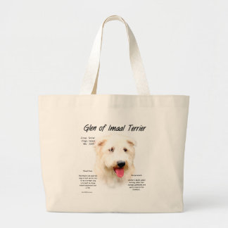 Glen of Imaal Terrier History Design Large Tote Bag