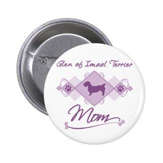 Glen of Imaal Terrier Mom Pinback Buttons