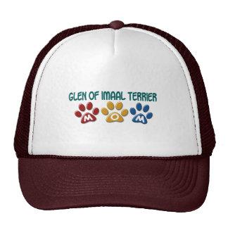 GLEN OF IMAAL TERRIER Mom Paw Print 1 Trucker Hat