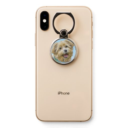 Glen of Imaal Terrier Painting - Original Dog Art Phone Ring Stand