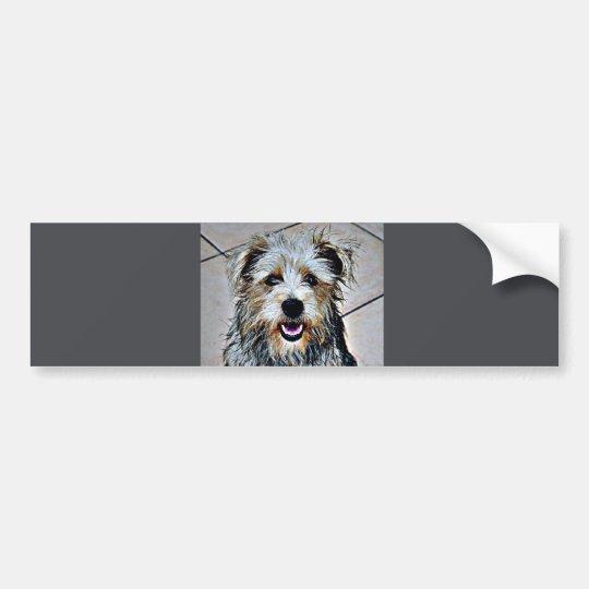 Glen of Imaal Terrier Pop Art Bumper Sticker