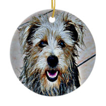 Glen of Imaal Terrier Pop Art Ceramic Ornament