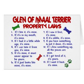 GLEN OF IMAAL TERRIER Property Laws Card