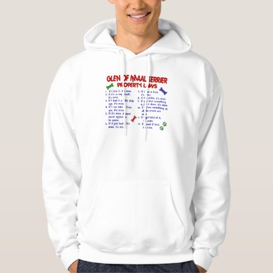 GLEN OF IMAAL TERRIER Property Laws Hoodie