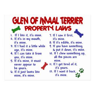 GLEN OF IMAAL TERRIER Property Laws Postcard