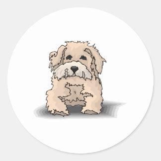 Glen of Imaal Terrier Puppy Round Sticker