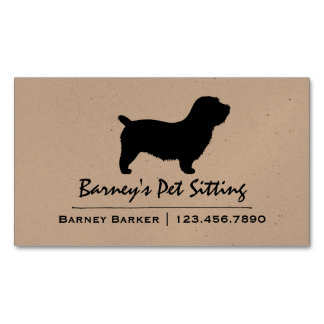 Glen of Imaal Terrier Silhouette Business Card Magnet