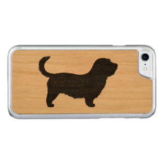 Glen of Imaal Terrier Silhouette with Long Tail Carved iPhone 7 Case