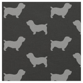Glen of Imaal Terrier Silhouettes Pattern Fabric