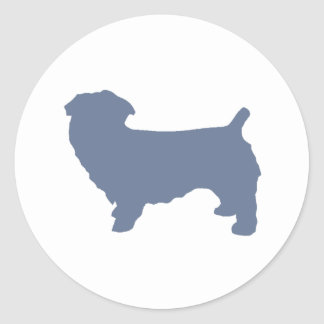 glen of imaal terrier silo blue.png classic round sticker