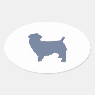 glen of imaal terrier silo blue.png oval sticker