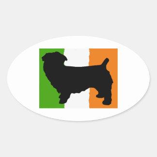 glen of imaal terrier silo ireland_flag.png oval sticker