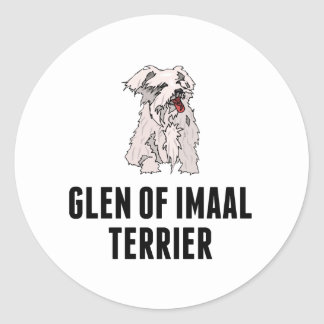 Glen of Imaal Terrier Round Stickers