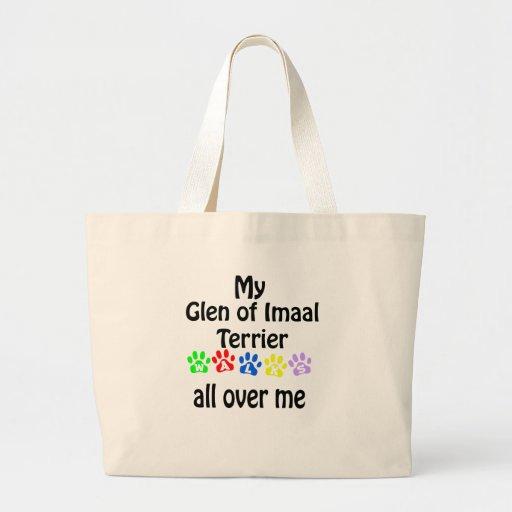 Glen of Imaal Terrier Walks Design Large Tote Bag