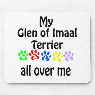 Glen of Imaal Terrier Walks Design Mouse Pad
