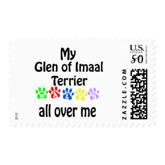 Glen of Imaal Terrier Walks Design Postage