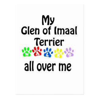 Glen of Imaal Terrier Walks Design Postcard