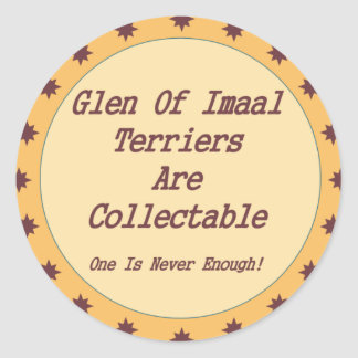 Glen Of Imaal Terriers Are Collectable Classic Round Sticker
