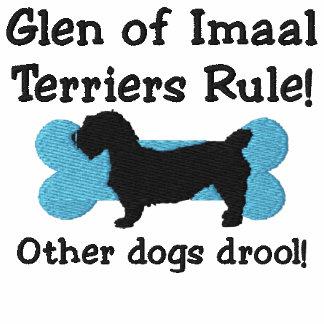 Glen of Imaal Terriers Rule Embroidered Hoodie