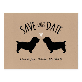 Glen of Imaal Terriers Wedding Save the Date Postcard