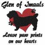 Glen of Imaals Leave Paw Prints Embroidered Hooded Sweatshirt