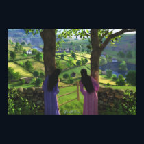 Glen of the Twins Canvas Print