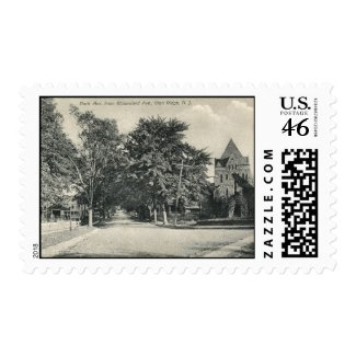 Glen Ridge, New Jersey 1909 Vintage stamp