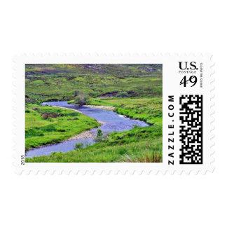 Glen River In Ireland Stamp
