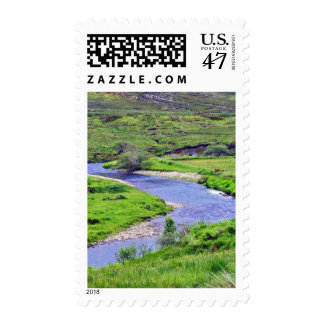 Glen River In Ireland Postage