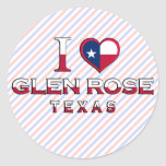 Glen Rose, Texas Round Stickers