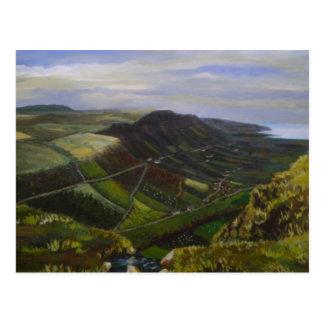 Glenariff, cañadas de la pintura al óleo de Antrim Postal