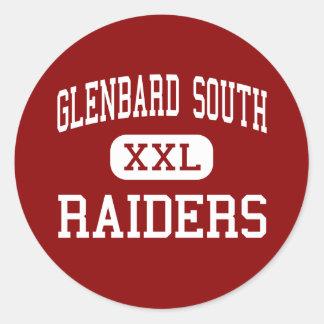 Glenbard South - Raiders - High - Glen Ellyn Classic Round Sticker