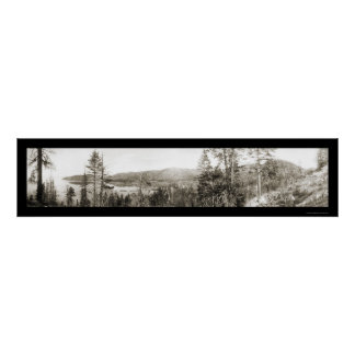Glenbrook Lake Tahoe Photo 1906 Poster