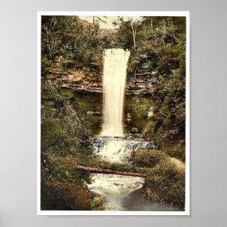 Glencar Fall. Co. Sligo, Ireland classic Photochro Poster