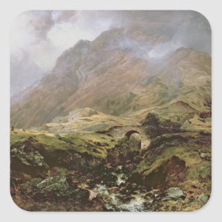 Glencoe, 1847 square sticker