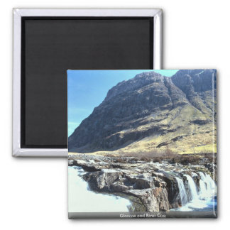 Glencoe and River Coe 2 Inch Square Magnet