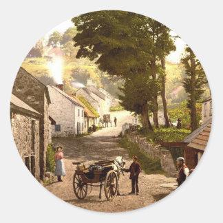 Glencoe Village_Ireland Pegatina Redonda