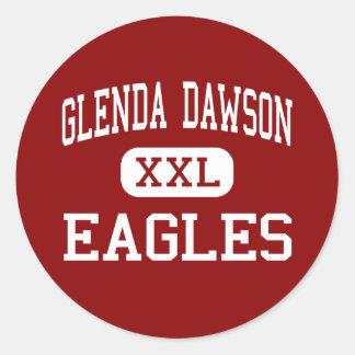 Glenda Dawson - Eagles - alto - Pearland Tejas Pegatina Redonda