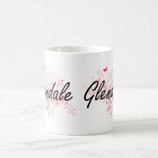 Glendale Arizona City Artistic design with butterf Coffee Mug