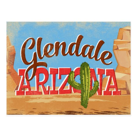 Glendale Arizona Vintage Travel Postcard